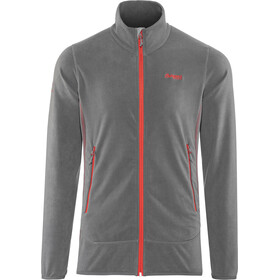Bergans M's Lovund Fleece Jacket Solid Dark Grey/Fire Red